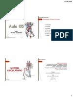 Aula 05- Sistema Circulatório