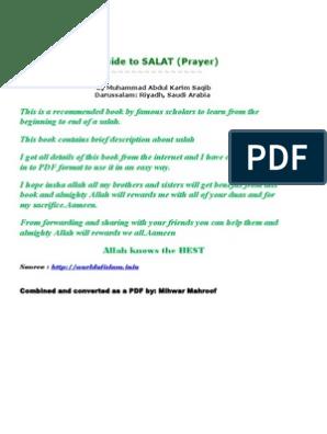 A guide to SALAT by Muhammad Abdul Karim Saqib | Hadith | Prophets