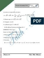 Devoir à la maison N°1 - Math - 1ère AS (2009-2010) Mr Abdessatar El Faleh