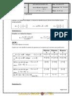 Devoir de Maison N°1 - Math - 1ère AS  (2010-2011) Mr Walid Jebali