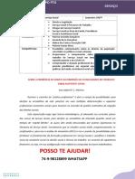 PORTFOLIO SERVIÇO SOCIAL 6 e 7 Sem Em Tempos de Pandemia Direitos Sociais e Políticas SociaisL