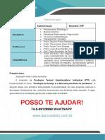 Produção de Laranja e a Demanda Pela Fruta Na Pandemia ADM 4 E 6 SEM