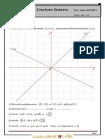 Série d'Exercices - Math Fonctions Linéaires - 1ère as (2011-2012) Mme GUESMIA Aziza