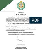 Uta Paro Nacional - Comunicado (22.4.2021)