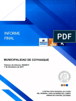 INFORME FINAL N° 820-2017 MUNICIPALIDAD DE COYHAIQUE AUDITORÍA A LA CONCESIÓN DEL SERVICIO DE ASEO DICIEMBRE-2017