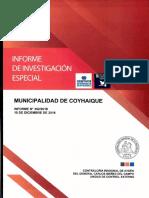 Informe de Investigación Especial 352-18 Corporación Municipal Cultural de Coyhaique -Pago Improcedente de Indemnizaciones y Asignación de Funciones Diciembre-2018