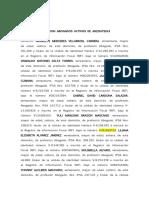 ACTA CONSTITUTIVA DE LA FUNDACION ABOGADOS ACTIVOS POR EL ESTADO ANZOATEGUI (ABAANZ)