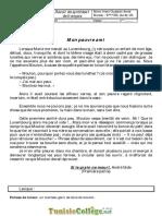 Devoir de Synthèse N°1 - Français - 9ème _2010-2011_  Mme oueslati