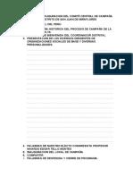 PROGRAMA DE INAUGURACION DEL COMITÉ CENTRAL DE CAMPAÑA DEL DISTRITO DE SAN JUAN DE MIRAFLORES