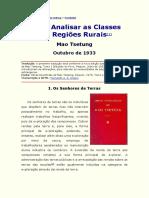 Mao Tsetung - Como Analisar as Classes nas Regiões Rurais