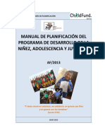 MANUAL DE PLANIFICACION PROGRAMACIÓN NIÑO QUIRQUINCHO FELIZ