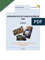 LINEAMIENTOS DE PLANIFICACION DE PDAS AF-13 VF OKEY
