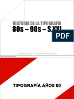 Expo Tipografa 80 90 SXXI