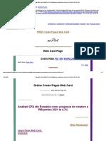Page Web Card _ Analiștii CFA Din România Cresc Prognoza de Creștere a PIB Pentru 2021 La 4,3%