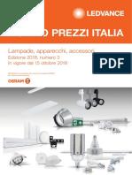 Listino Prezzi Italia Lampade e Apparecchi LEDVANCE 2018