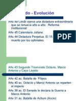Principado - Evolución