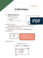 Resume Chapitre 2 Arithmetique