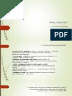 1^ Lezione - Tessuti Epiteliali
