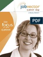 Begleitheft jobvector career day in München 2011