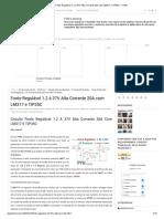 Fonte Regulável 1.2 à 37V Alta Corrente 20A Com LM317 e TIP35C - FVML