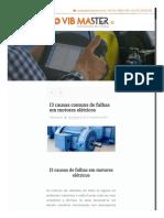 W - 13 Causas e recomendações para analisar falhas de motores elétricos