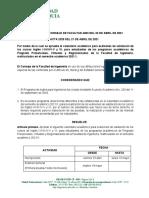 Calendario Examenes Validación Ingles 2021-1