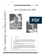 1990 Mises Institute Report to Members