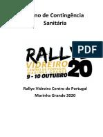 Rallye Vidreiro Centro de Portugal - Marinha Grande 2020_Plano de Contingência