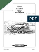 Rapid 300-400-450f Instruction Manual Serial No. 10026-11999
