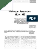 Entrevista Florestan Fernandes – 1920-1995.