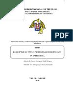 SATISFACCION LABORAL Y CONDICIONES DE TRABAJO