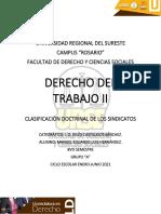 Clasificacion Doctrinal de Los Sindicatos - Manuel Eduardo Luis Hernández