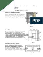 TD1 circuit magnetique