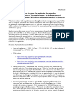 Guidance on Federal Employee Overtime Pay and Other Premium Pay