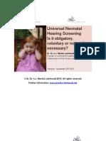 Universal Neonatal Hearing Screening