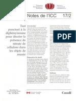VVAA. Test pour déceler présence nitrate cellulose. ICC. 1994