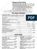 Pizza King Menu