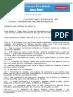 Lições antigas estudo e comentário de Gálatas 1999