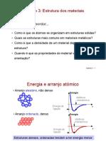 4 - Estrutura dos materiais