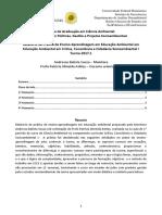 Relatório de Prática de Ensino-Aprendizagem Em Educação Ambiental - Turma CCCS I - 31 Mar 2017