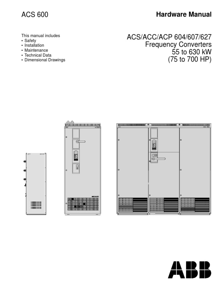 ACS604 VSD Hardware manual (ABB) | Alternating Current | Switch