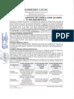 Contrato de Servicio de Consultoría de Obra N 006-2020-MDPALC.
