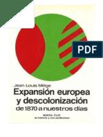 Miege, Jean Louis. - Expansion Europea y Descolonizacion, Desde 1870 a Nuestros Dias [1980]