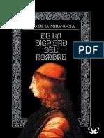 Pico Della Mirandola, G. - De La Dignidad Del Hombre [EPL][2015]