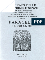 Paracelso. - Trattato Delle Tre Prime Essenze [1986]