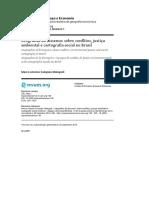 Geografias do dissenso - sobre conflitos, justiça ambiental e cartografia social no Brasil
