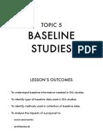 TOPIC 5 BASELINE STUDIES PDF