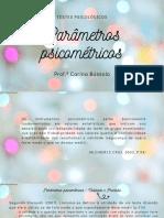 PARÂMETROS PSICOMÉTRICOS