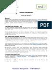 Customer Management - Back to Basics