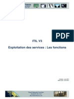 ITIL V3. Exploitation Des Services _ Les Fonctions